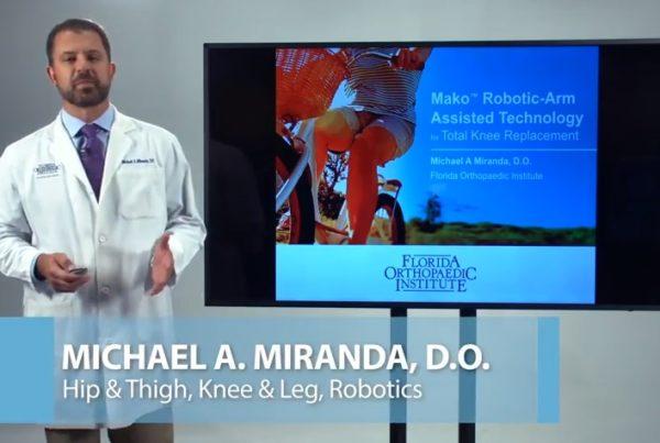 Knee Pain Dr. Michael Miranda Florida Orthopaedic Institute