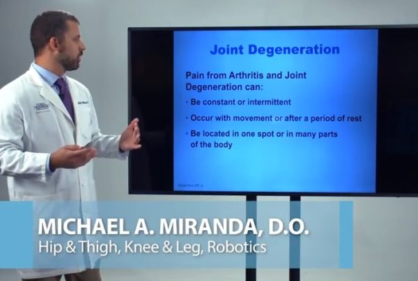 Knee Pain Questions Dr. Michael Miranda Florida Orthopaedic Institute