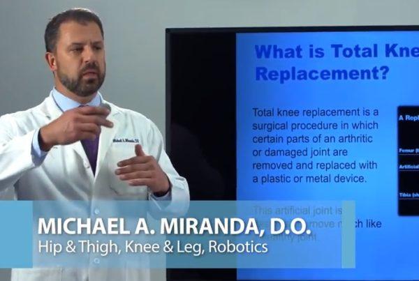 Total Knee Replacement Dr.Michael Miranda Florida Orthopaedic Institute