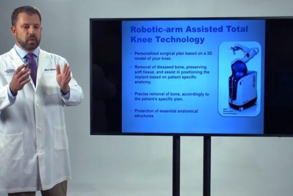 Knee Replacement Robotics MAKO Dr. Michael Miranda Florida Orthopaedic Institute