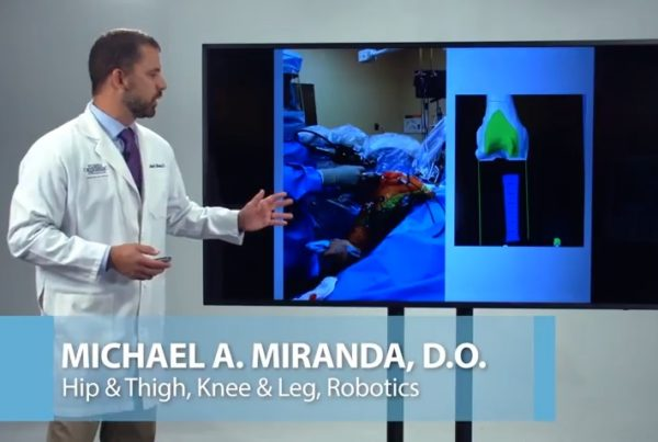 Robotics Surgery MAKO Total Knee Replacement Dr. Michael Miranda Florida Orthopaedic Institute
