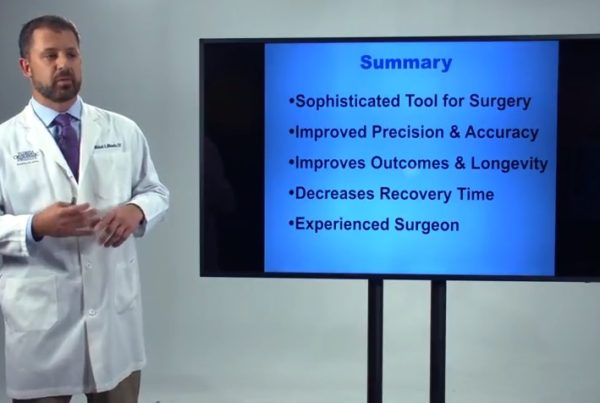 MAKO Robotic-Arm Assisted Surgery Information Dr. Michael Miranda Florida Orthopaedic Institute