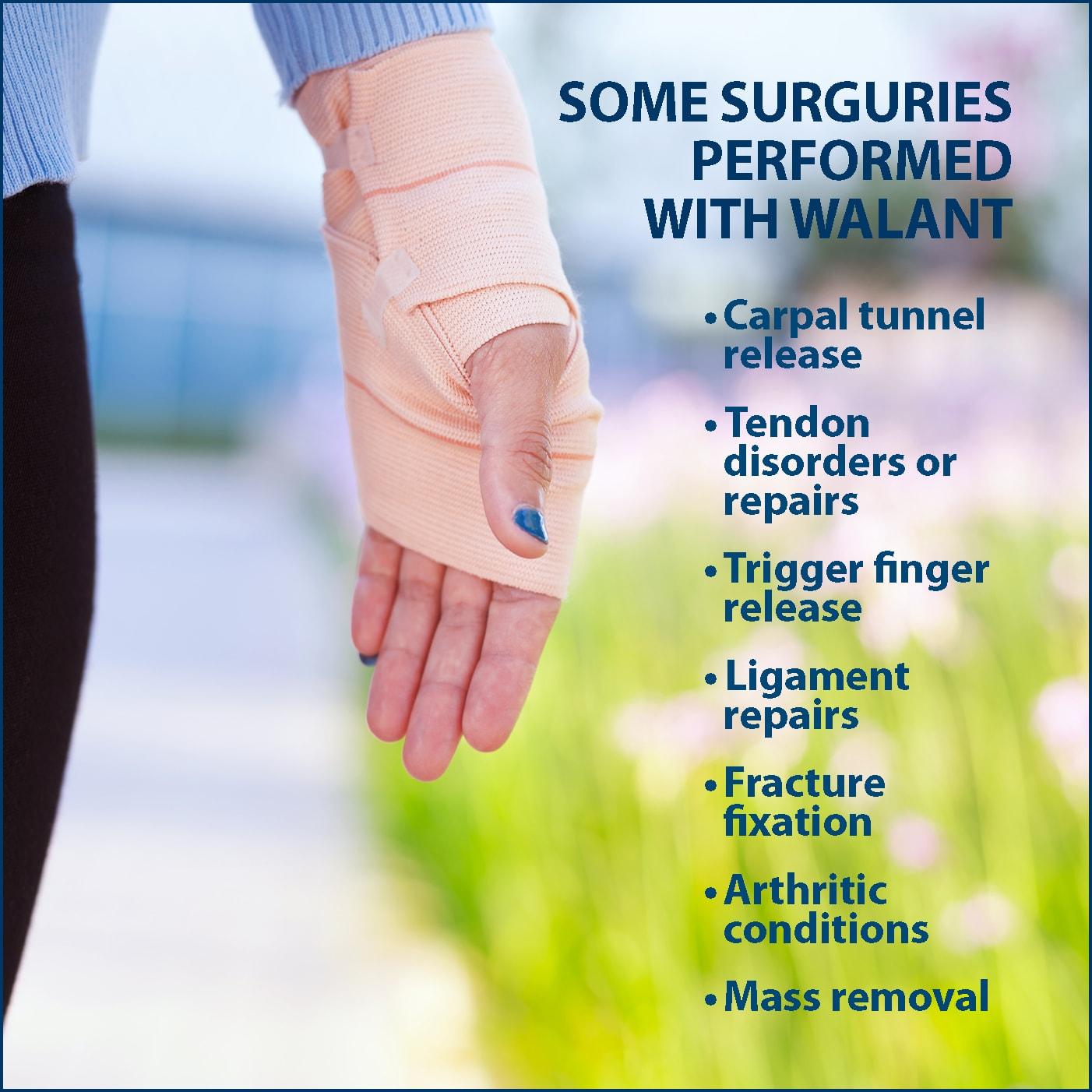 WALANT Wide Awake Local Anesthesia No Tourniquet Surgery