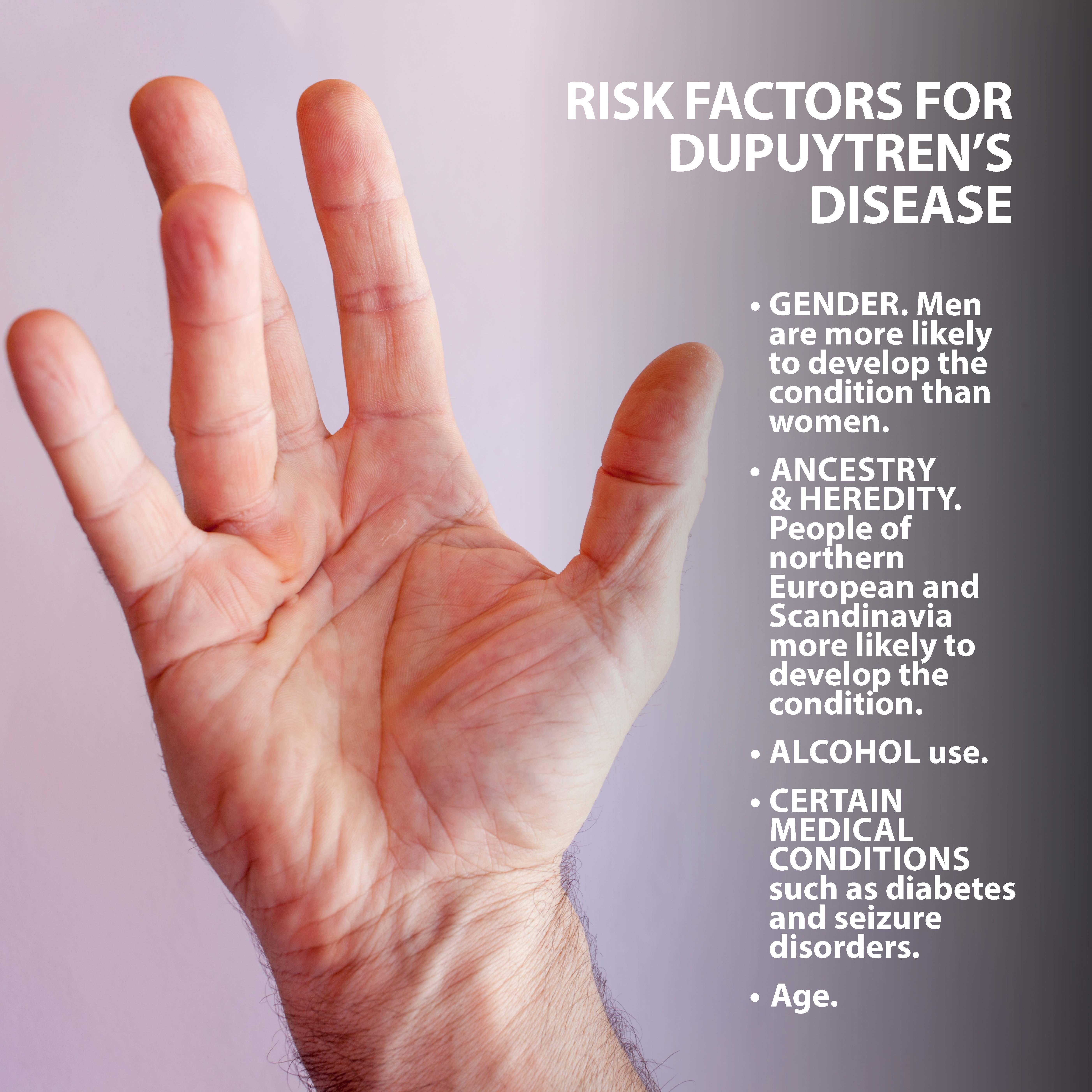 Dupuytren's Disease Risk Factors Graphic
