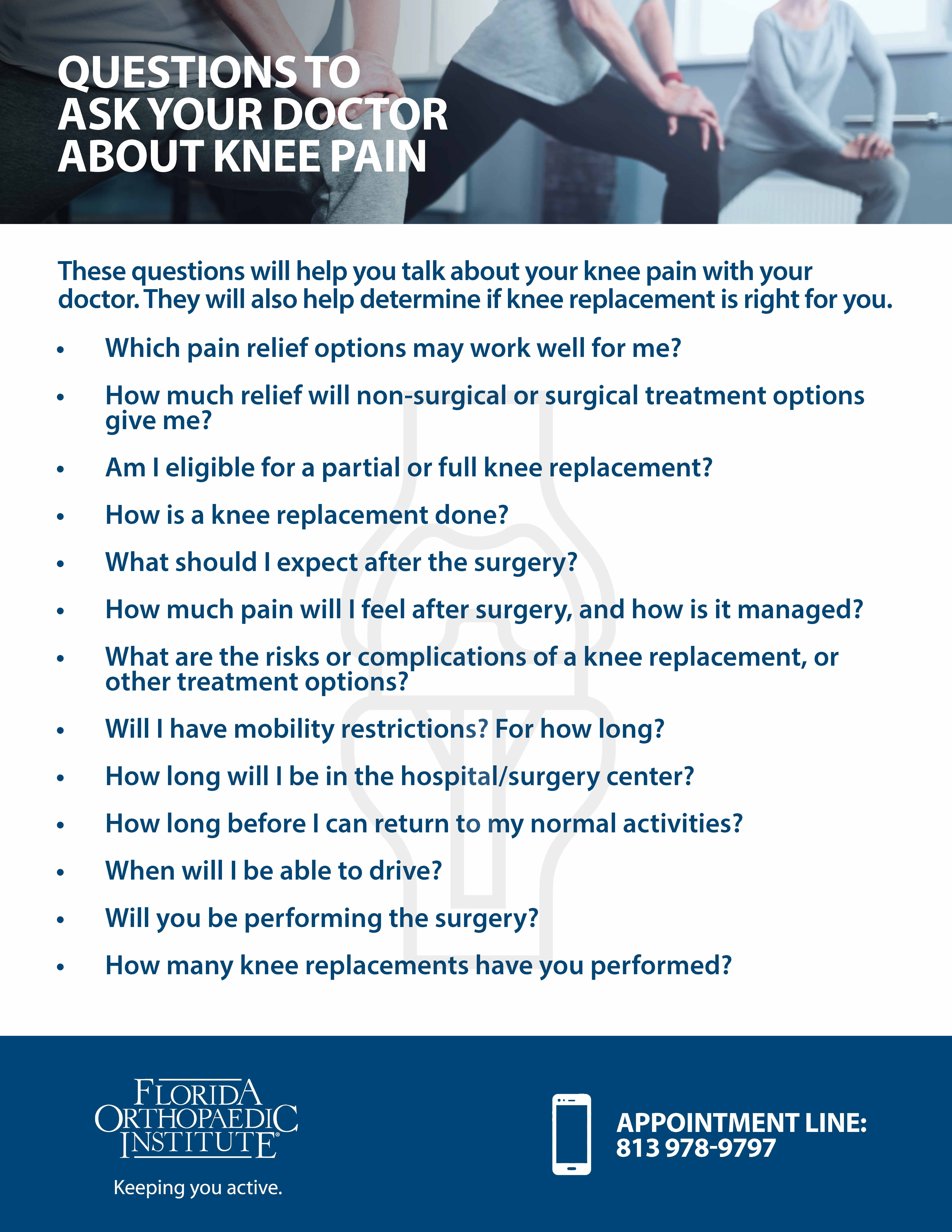 Total Knee Replacement   Florida Orthopaedic Institute