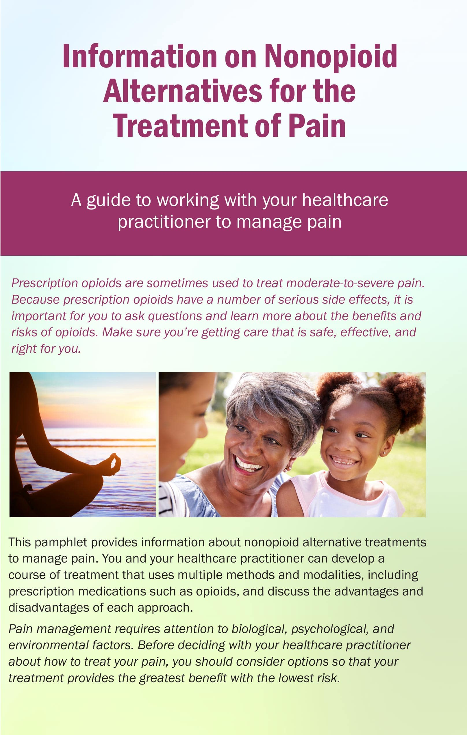 Opioid Alternative Treatments